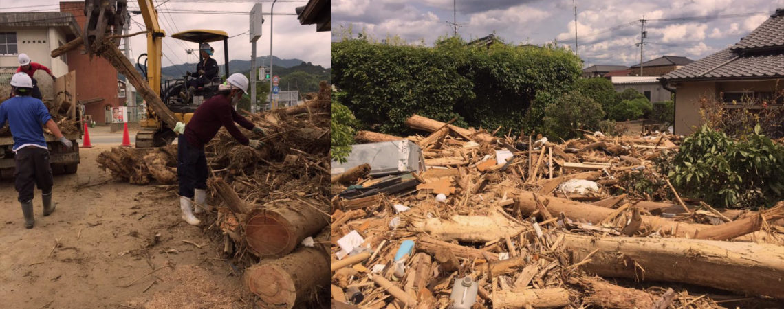 九州北部豪雨災害への復旧活動